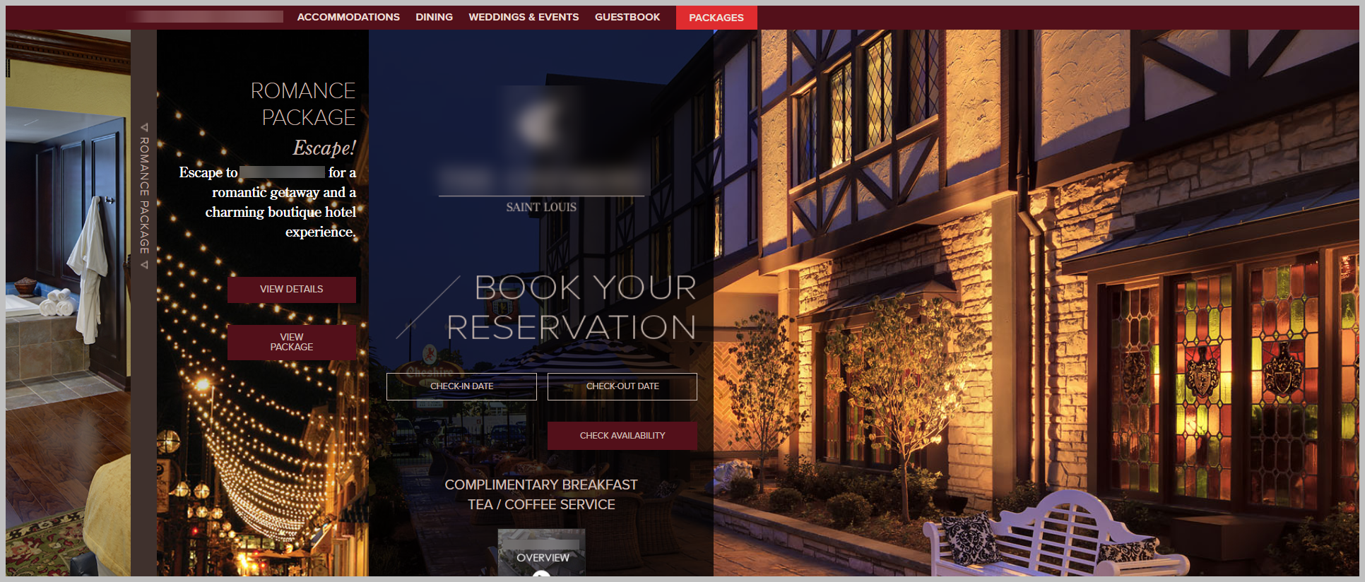 stlouis hotel screenshot