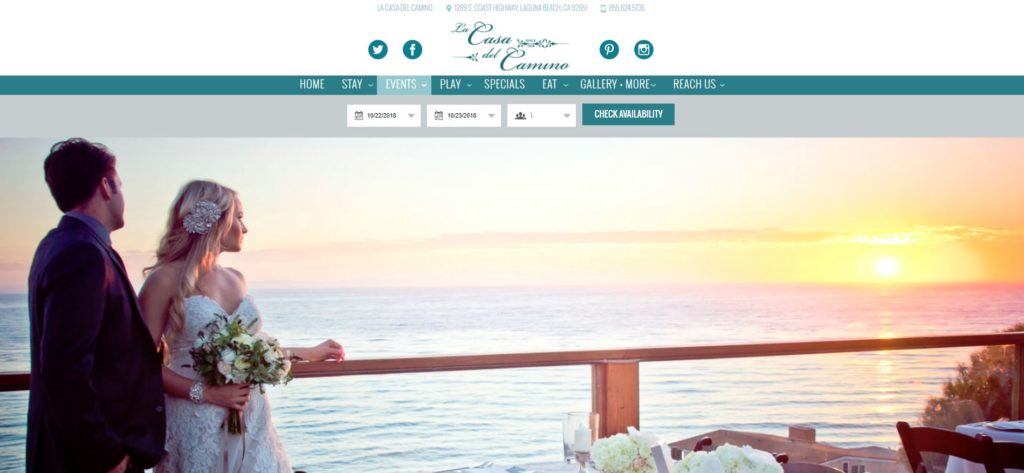 La Casa del Camino Wedding Page