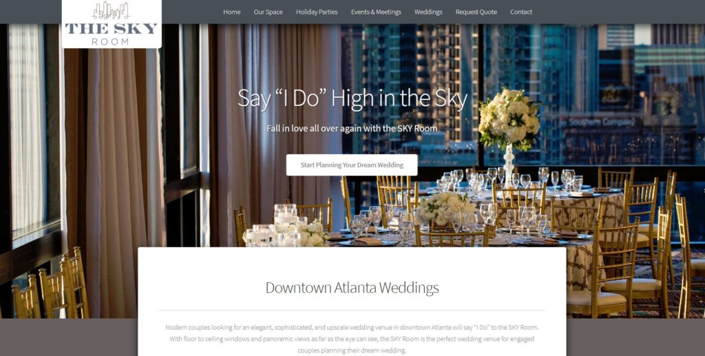 SKY Room Wedding Page