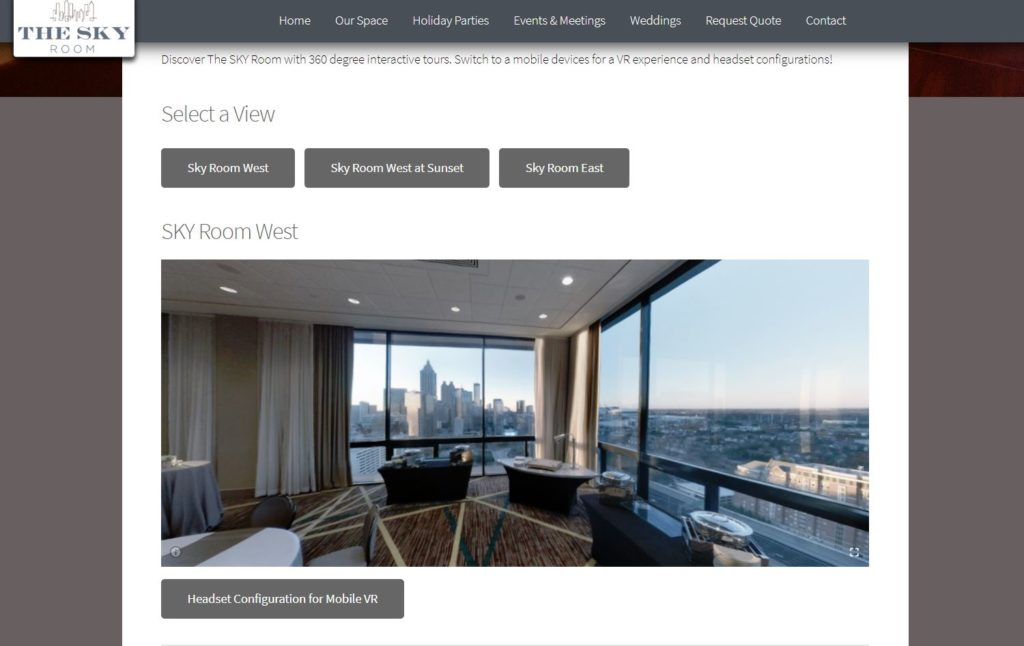 SKY Room VR Photography