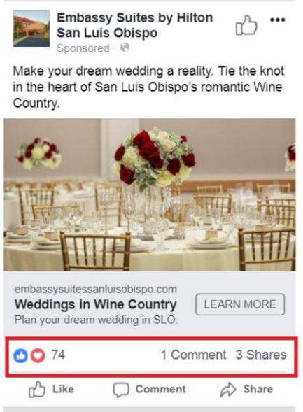 San Luis Obispo Social Media Wedding Ad