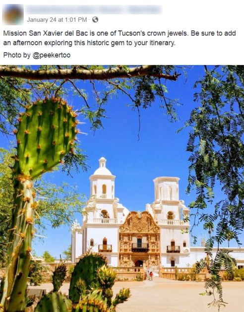 Mission San Xavier del Bac in Tucson