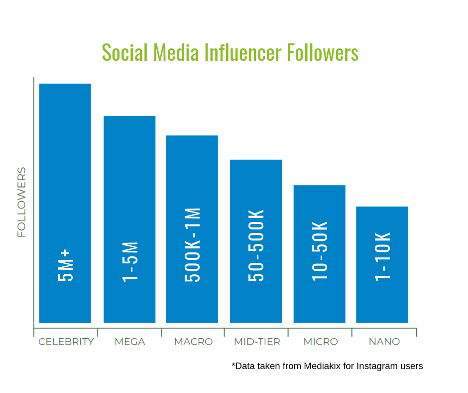 social media influencer follower graph