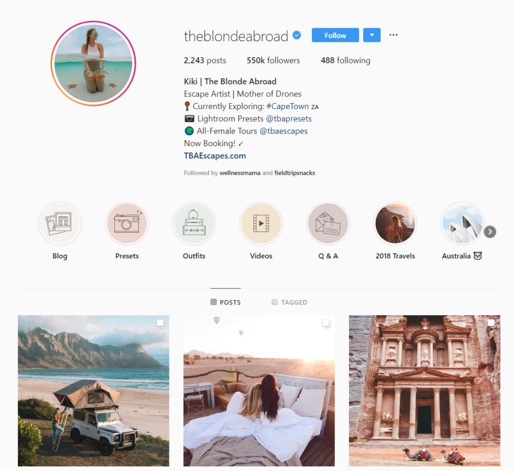 social media influencer instagram theblondeabroad