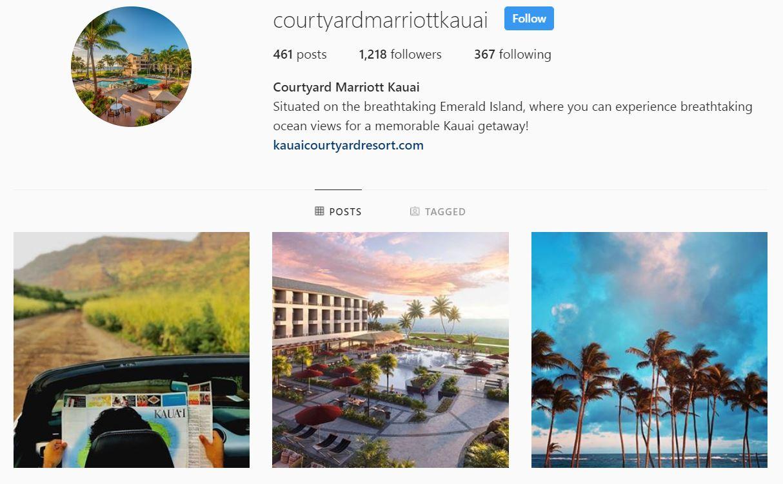 Courtyard Kauai Instagram Example