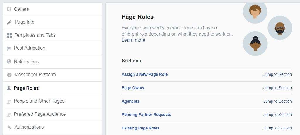 Page Roles on Facebook