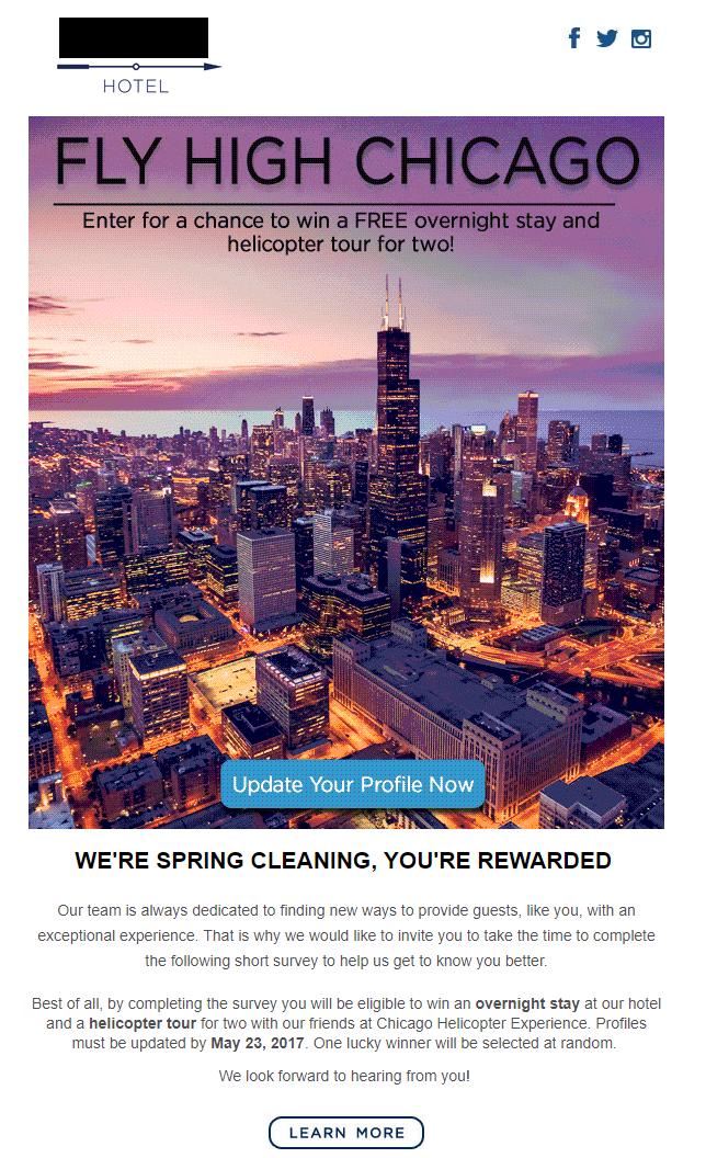 Example eBlast Chicago