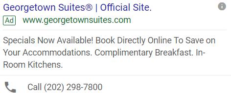 Old Georgetown Suites Ad