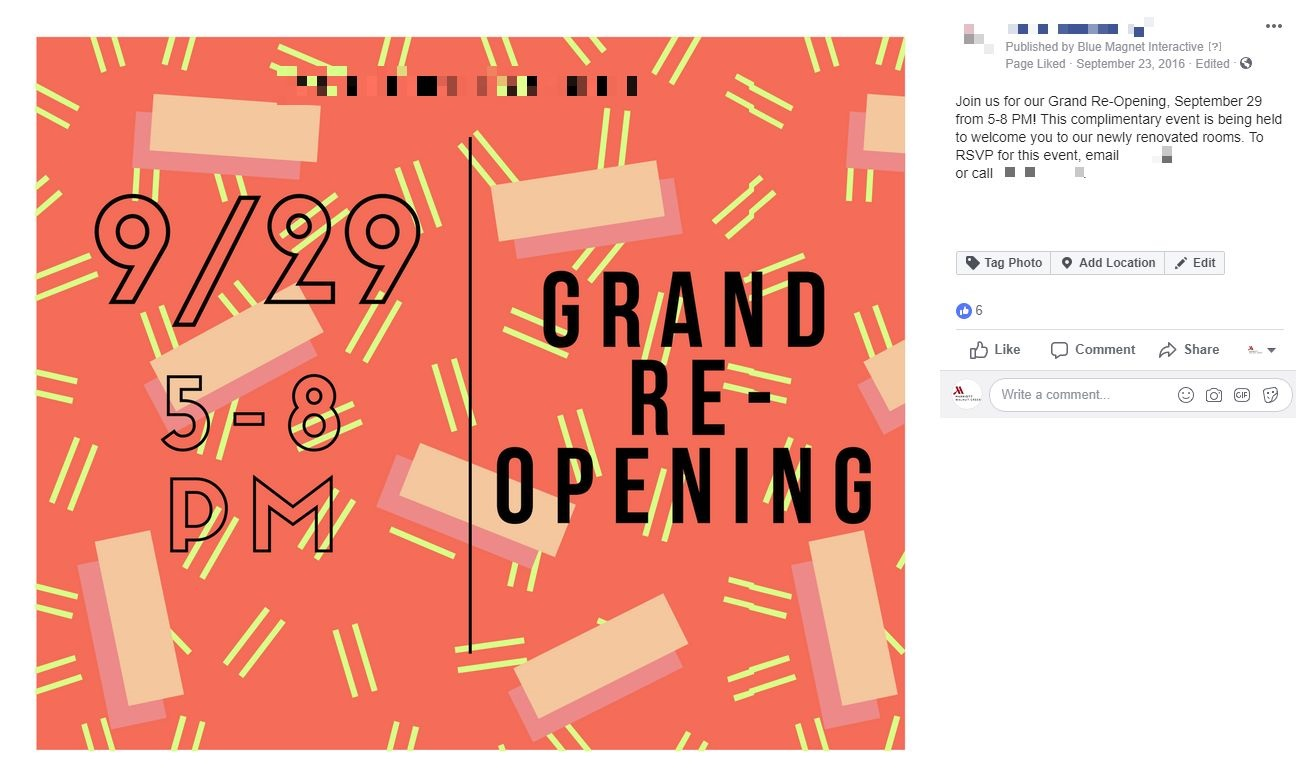 re-opening facebook post