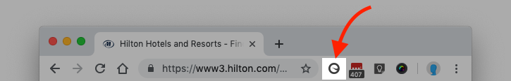 Siteimprove icon in Chrome address bar