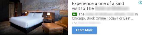 Hotel display ad example 1