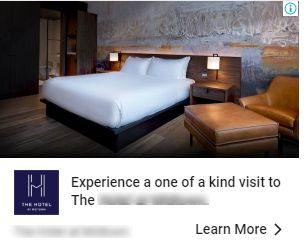 Hotel display ad example 2