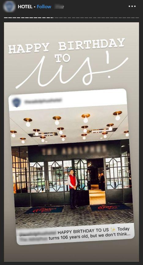 adolphus hotel birthday story