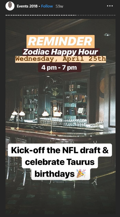 happy hour instagram story