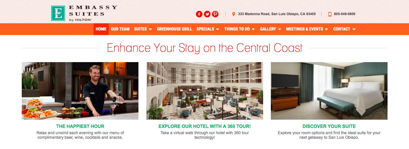 hotel website screenshot