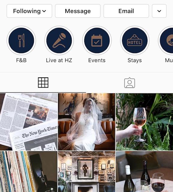 hotel zachary instagram highlights