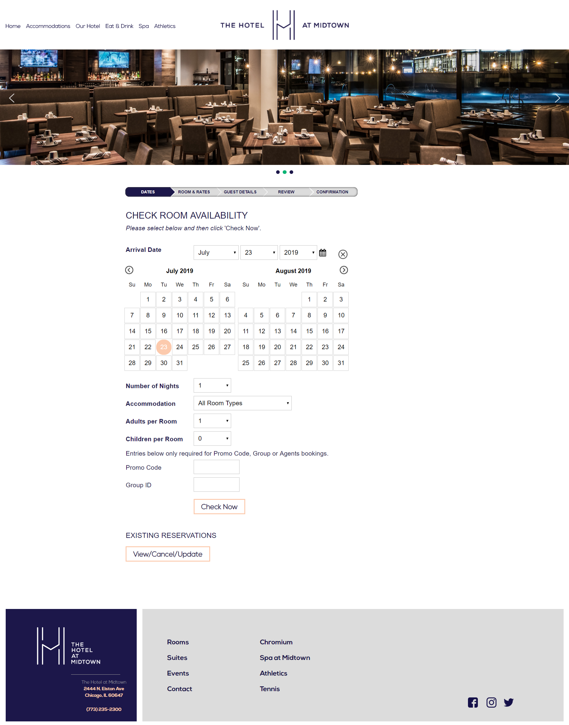 midtown booking widget is an example of a simple application