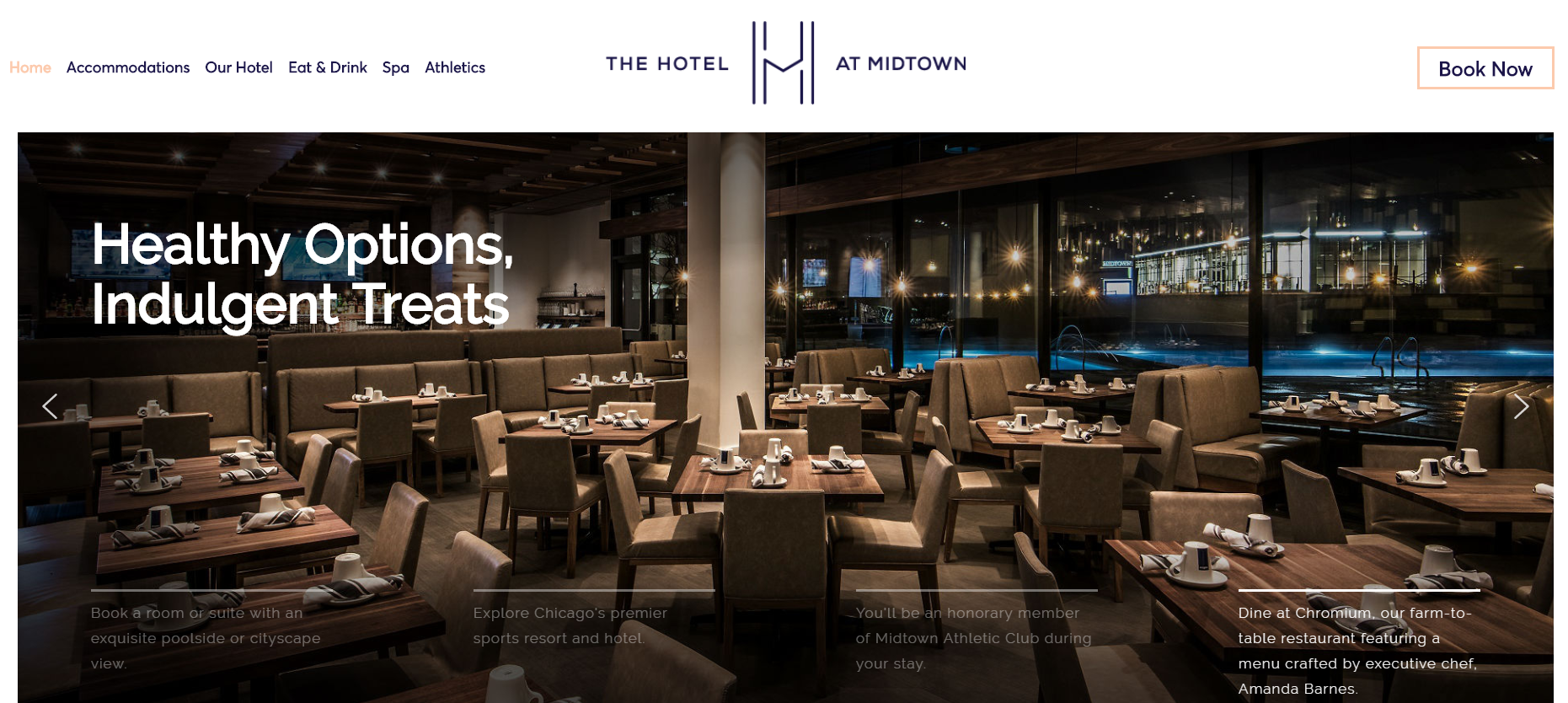 midtown dining an example of simple website design