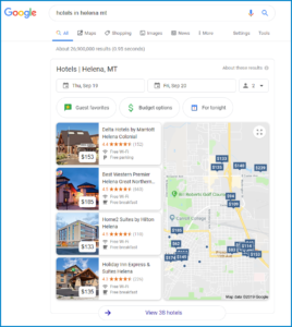 Google Local Pack for Hotels