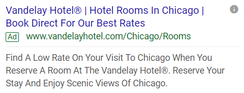 example of a ppc ad in serp