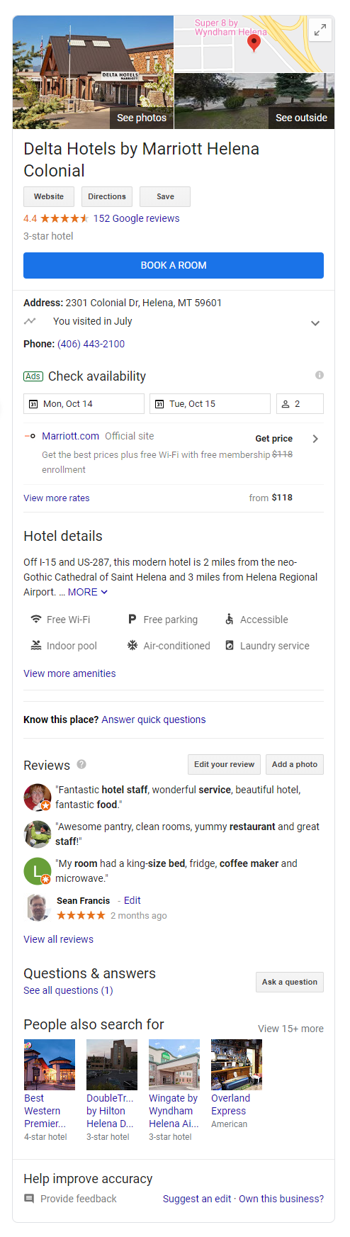 example of the knowledge graph on Google