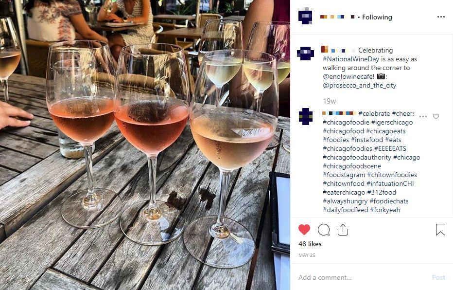 national wine day hotel instagram