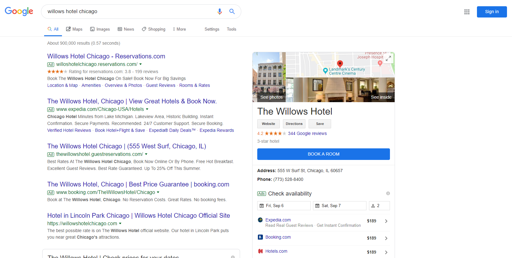 example of ppc in serp