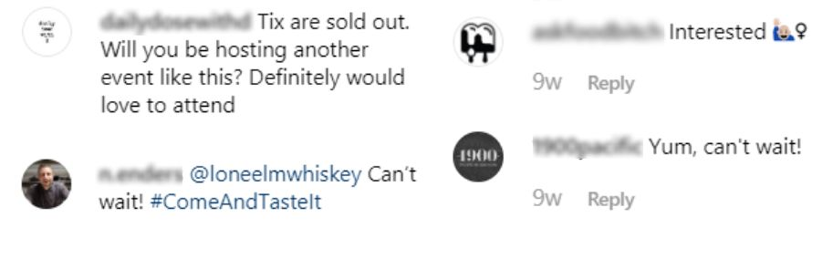whisky brunch instagram cambria dallas comments