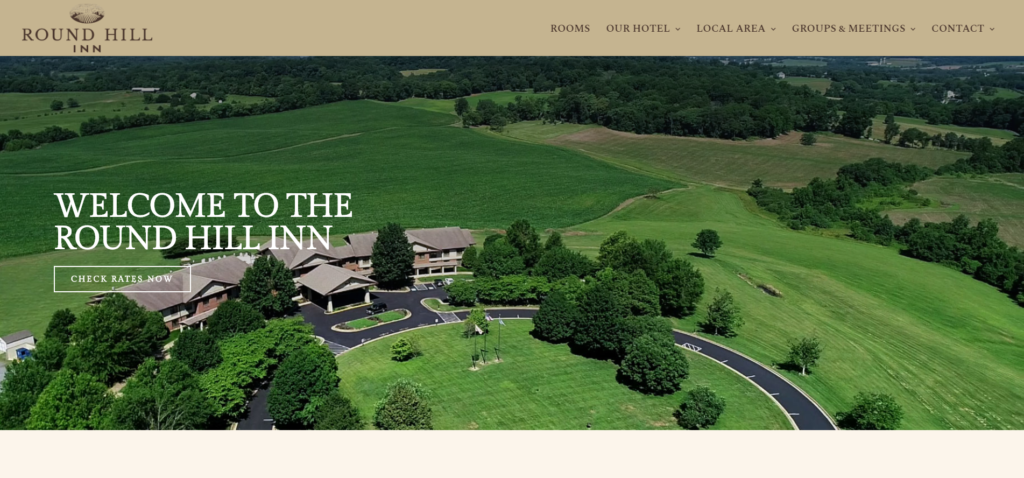 Hotel Homepage Example
