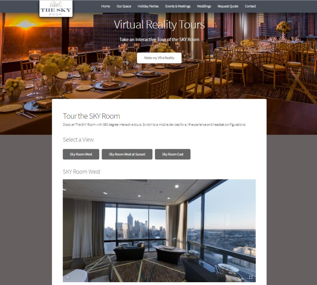 SKY Room Atlanta VR page