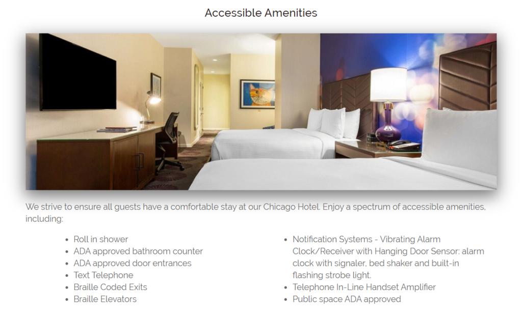 website accessible amenities