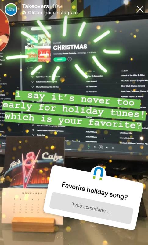 instagram story christmas song