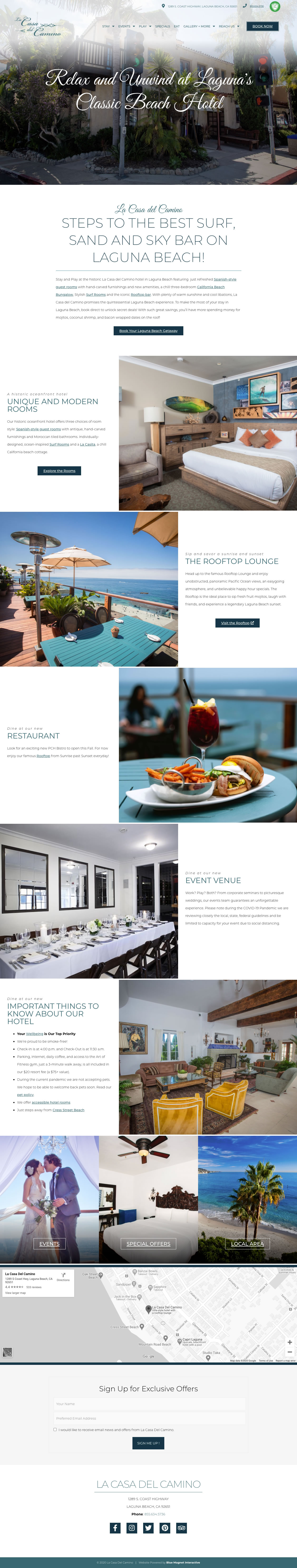 web design example casa del camino