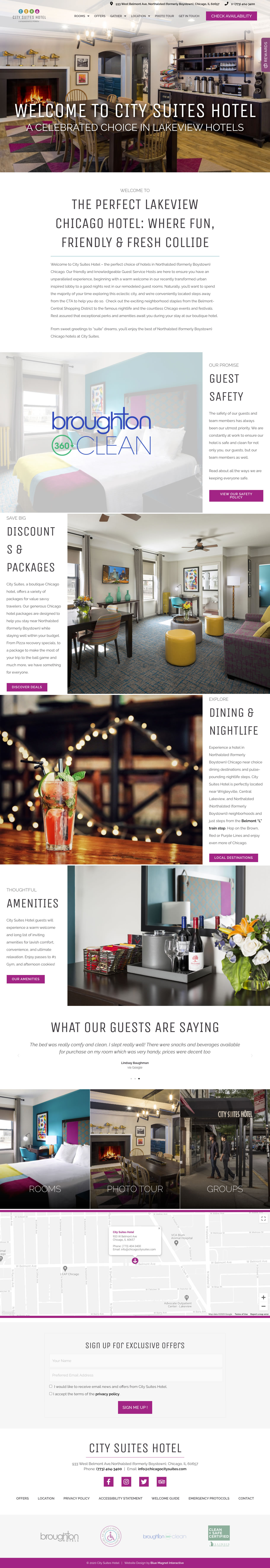 web design example city suites