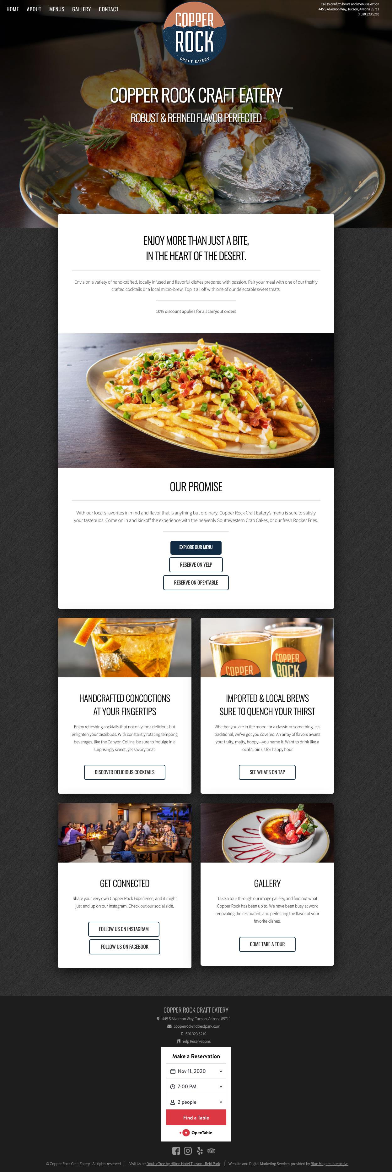 web design example copper rock