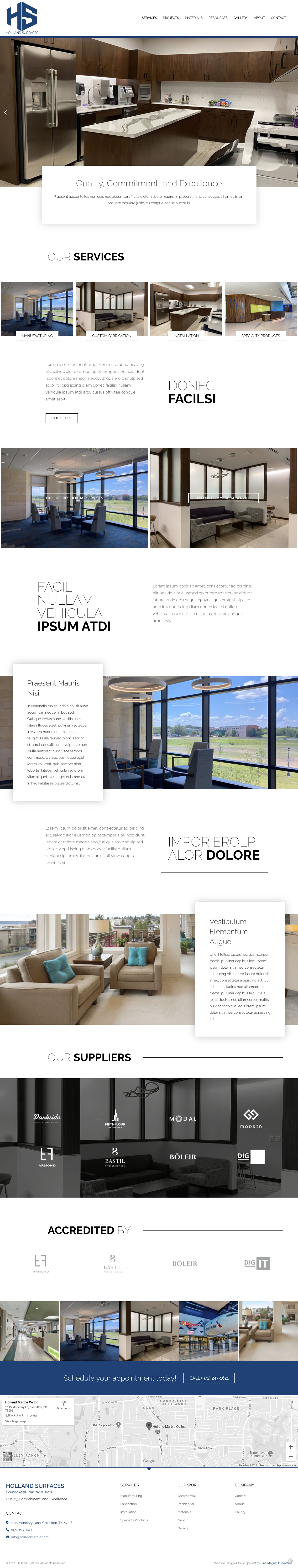 web design example holland surfaces