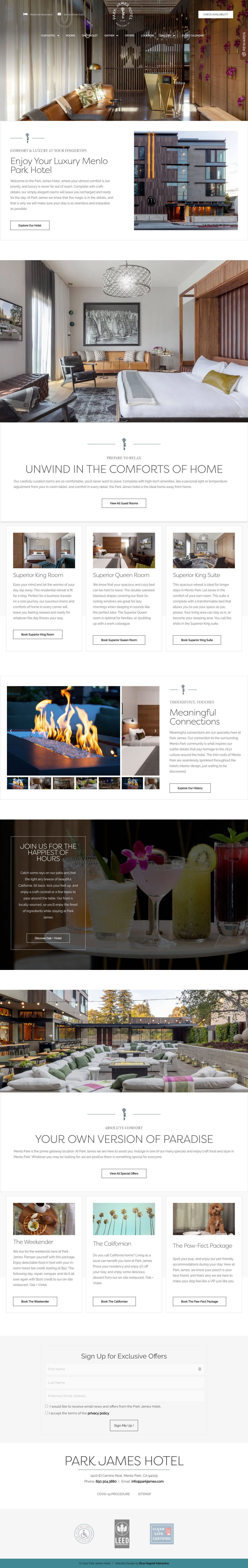 web design example park james