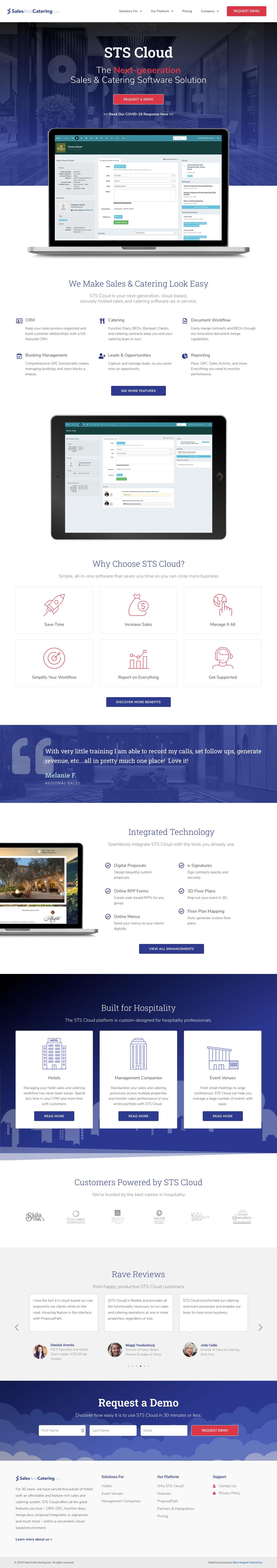 web design example salesandcatering