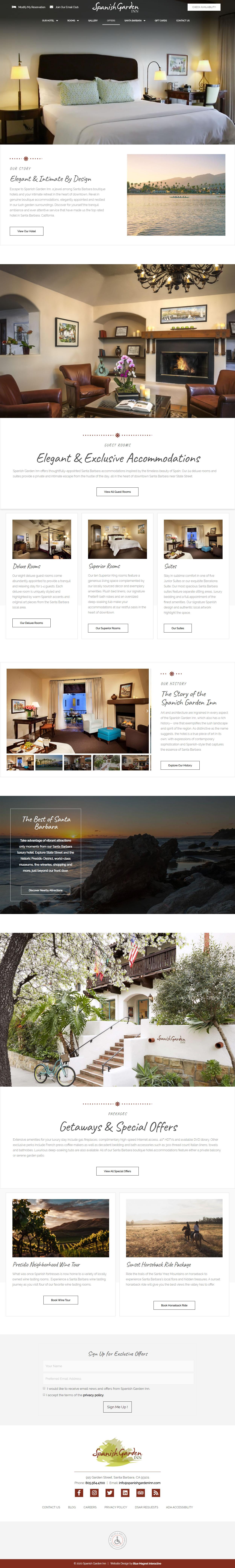 web design example spanish garden inn