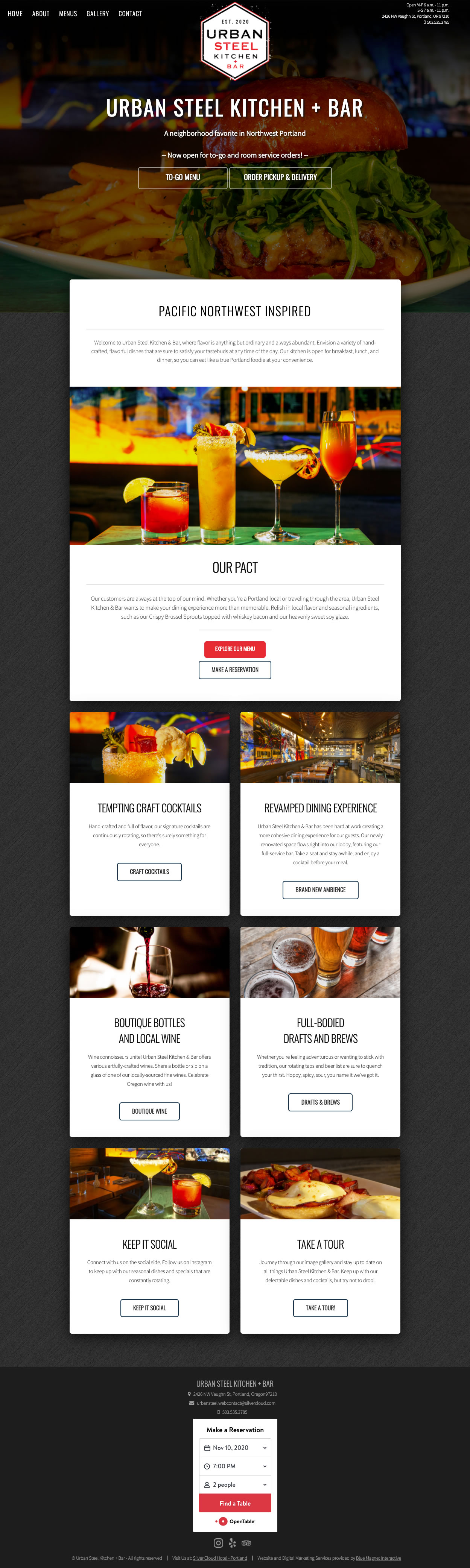 web design example urban steel kitchen